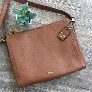 NWOT Fossil Cross Body Leather Cow Hide Purse